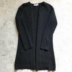 Loft black long coatigan sweater cardigan medium